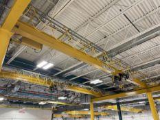 GLOBAL Top Running Dual Bridge Free Standing Crane System, (2) 5-Ton Bridges, 25' x 35' x 17'