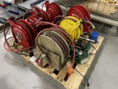Lot of Assorted Hose Reels and Coolant Skimmers
