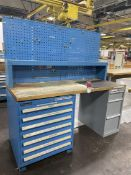 BOTT/KENNEDY Wood Top Work Bench w/ Ball Bearing Cabinet Base