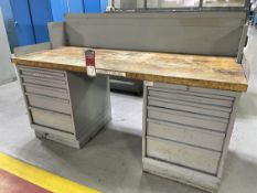LISTA Wood Top Work Bench w/ Ball Bearing Cabinet Base