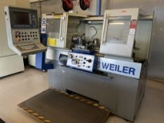 """2012 WEILER E30 x 750 Controlled Engine Lathe, s/n HF02, WEILER Control, 7"""" 3-Jaw, 13"""" Swing, 30"""""""
