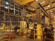 "KONE CRANES 3-Ton Top Running Free Standing Bridge Crane System, 25'6"" x 75"" x 14'4"" Under Rail,"