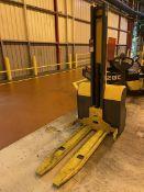 JUNGHEINRICH EMC110 Electric Walkie Stacker, s/n 90417991, 2200 Lb. Capacity