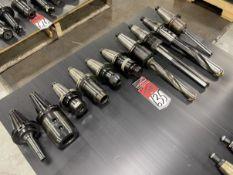 Lot of (10) CAT 50 Tool Holders