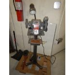 CENTRAL MACHINERY Dual End Pedestal Grinder, s/n 1917-37071, .33 HP, 3560 RPM