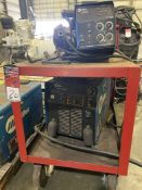 Miller XMT 456 cc/cv Welder on Cart with 60 Series Feed, s/n LG130578A