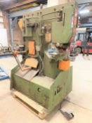 Peddinghaus Peddimax 66/110 Hydraulic Ironworker, s/n 44228443196004, 66 Ton, Length Stop