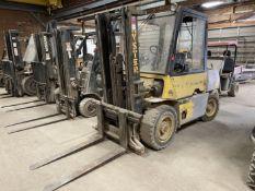 Hyster H80XL LP Forklift, s/n G005D08608T, 8000 Lb. Capacity, 2-Stage Mast, Side Shift
