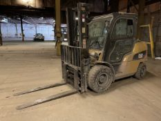 Caterpillar P10000 LP Forklift, s/n AT29D80210, 8,850 Lb. Capacity, 2-Stage Mast, Side Shift, Cab