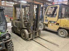 Caterpillar Diesel Forklift, Approx. 5,000 Lb. Capacity, 3-Stage Mast, Diesel, (Plate Not Legible)