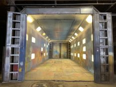 Custom Built Paint Room, 60' x 20' 15'H, Lighted, Ansul Fire Protection System