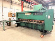 "Cincinnati 250 Hydraulic Shear, s/n 45415, 10' x 1/4"" Capacity, Front Operating Back Gauge, 80"""