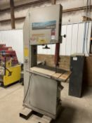 """2006 TANNEWITZ HB-600A Vertical Bandsaw, s/n 10989, 23-3/4"""" x 31-1/2"""" Table, 23"""" Throat"""