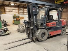 Tailift FD50 Diesel Forklift, s/n TA06739, 8250 Lb. Capacity, 3-Stage Mast, Side Shift