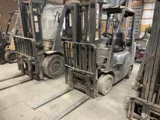 Nissan 50 LP Forklift, s/n CPL02-9P4984, 5,000 Lb. Capacity, 3-Stage Mast, Side Shift