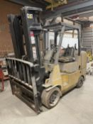 Caterpillar GC45K-SWB LP Forklift, s/n AT8702022, 9,000 Lb. Capacity, 3-Stage Mast, Side Shift, No