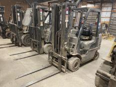 Nissan 50 LP Forklift, s/n AP1F2-9U0034, 5,000 Lb. Capacity, 3-Stage Mast, Side Shift
