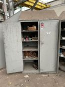 (3) Wood Cabinets w/ Contents