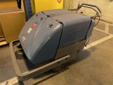 TENNANT S10E Floor Sweeper, s/n MS10E-008542