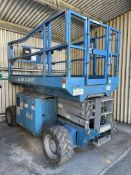 2012 GENIE GS-2669RT Rough Terrain Scissor Lift, s/n GS6912-365, 1500 Lb. Rated Work Load,