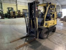 HYSTER H50FT LP Forklift, s/n L177B04416D, 5,000 Lb. Capacity, 3-Stage Mast, Side Shift, Dual