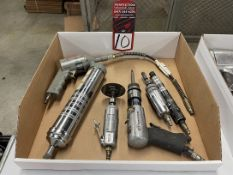 Lot Comprising Assorted Pneumatic Tools Including Air Hammer, Die Grinders and Grease Gun