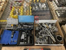 Lot of Assorted Sockets and Rachets