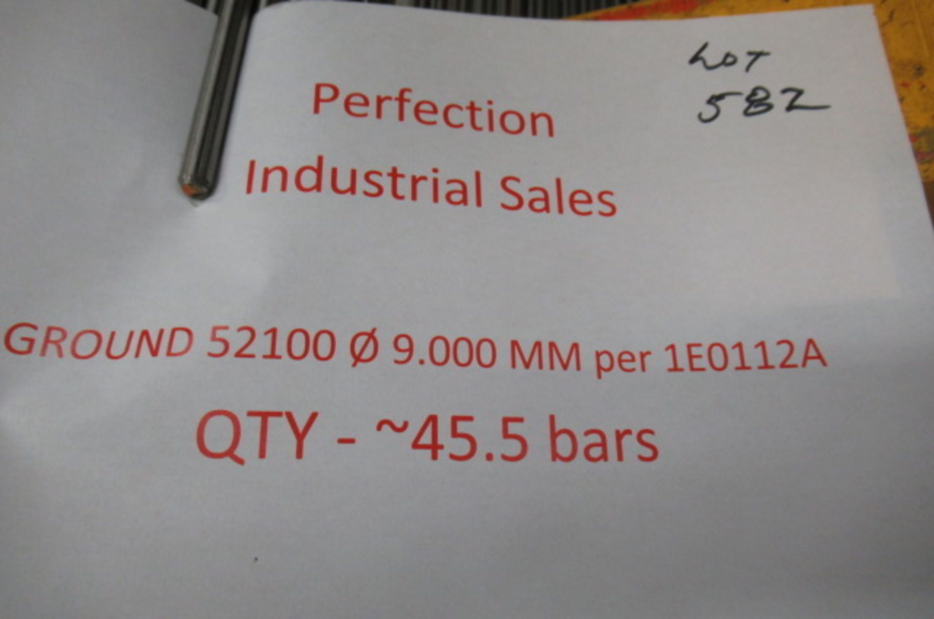 Lot steel round stock 52100 09.000mm per 1E0112A qty 45