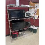Rack w/ (2) Microwaves and (2) Crock Pots