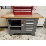 "KENNEDY Wood Top Work Bench, 20"" x 54"" x 1.5"" Thick Top"