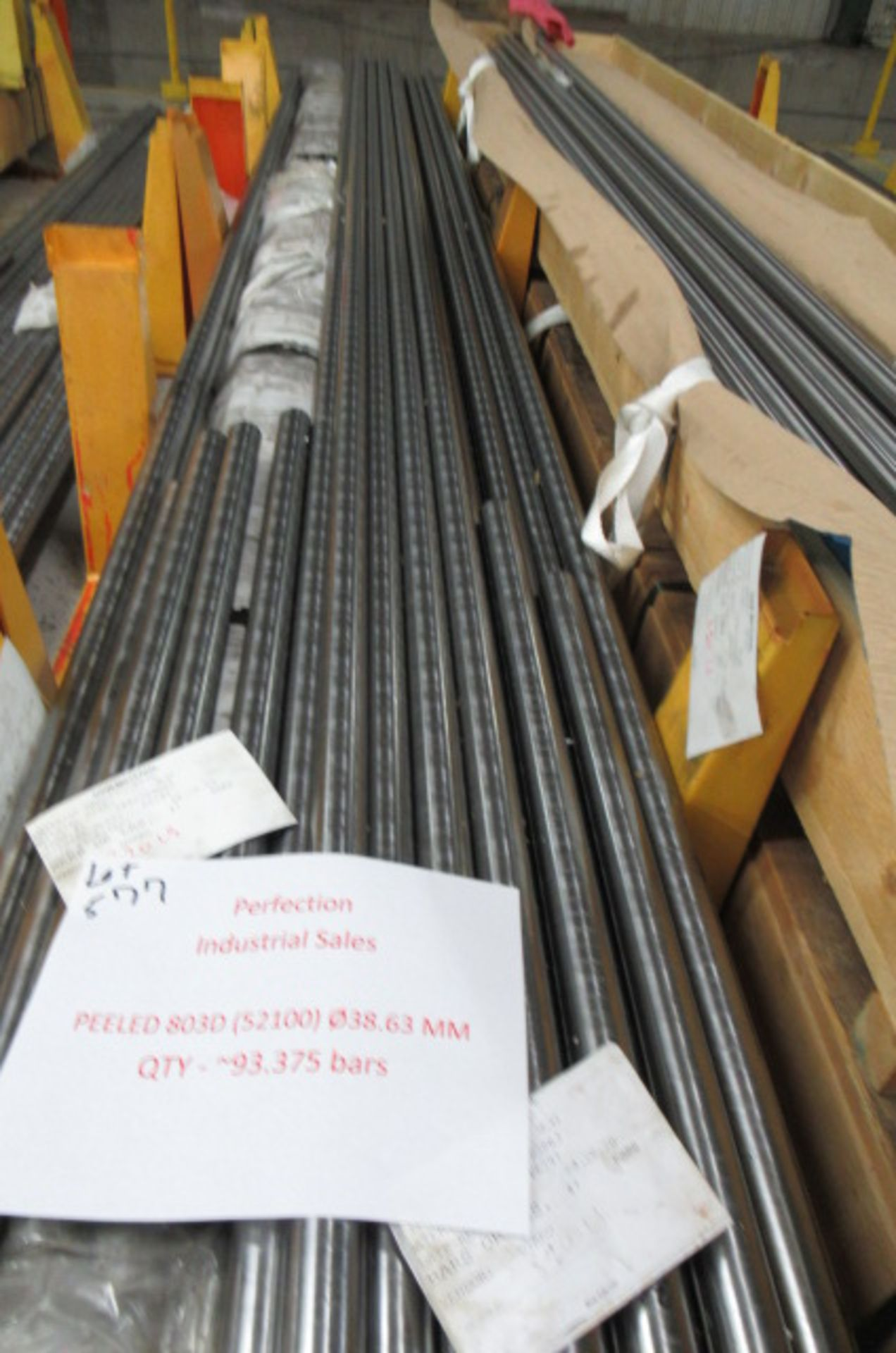 Lot steel round stock Peeled 803D (52100) 38.63mm qty 93 - Image 3 of 3
