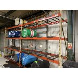 Lot of (2) Sections of Pallet Racking, 10'T x 9' Crossbeams x 3' Deep