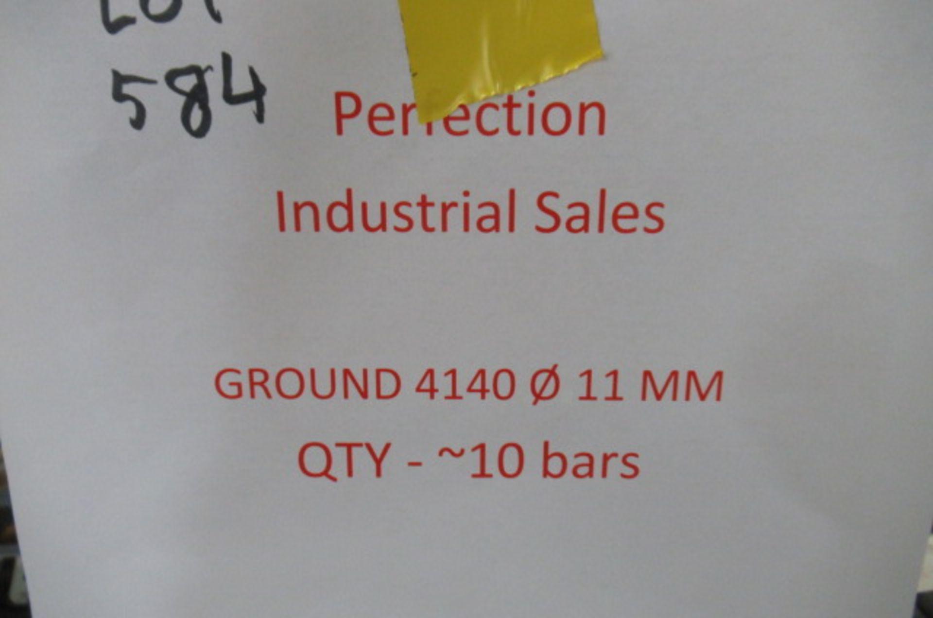 Lot steel round stock ground 4140 011 qty 10
