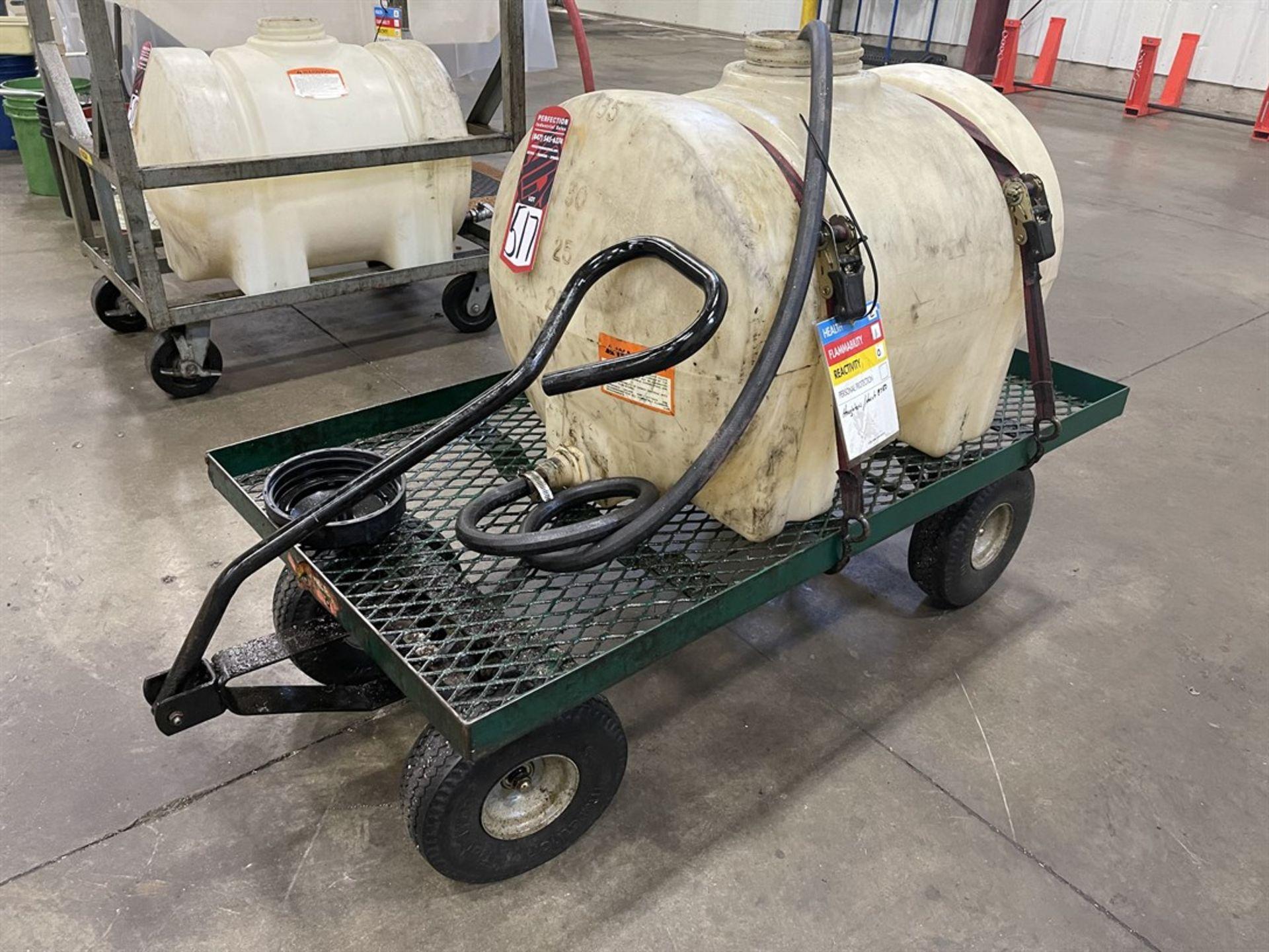35 Gallon Tank On Rolling Wagon