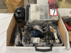 Lot Comprising Electric and Battery Powered Dremel Tools w/ Batteries and Tooling