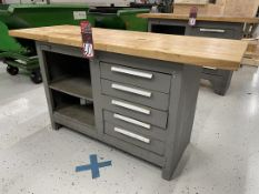 """KENNEDY Wood Top Work Bench, 20"""" x 54"""" x 1.5"""" Thick Top"""