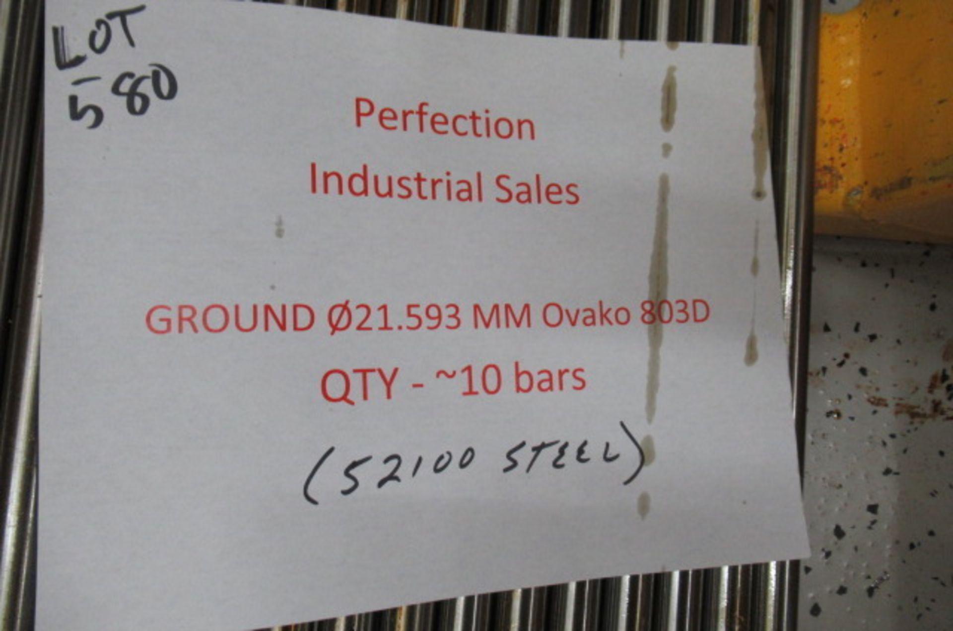 Lot steel round stock Ground 021.593mm OVAKO 803D qty 10