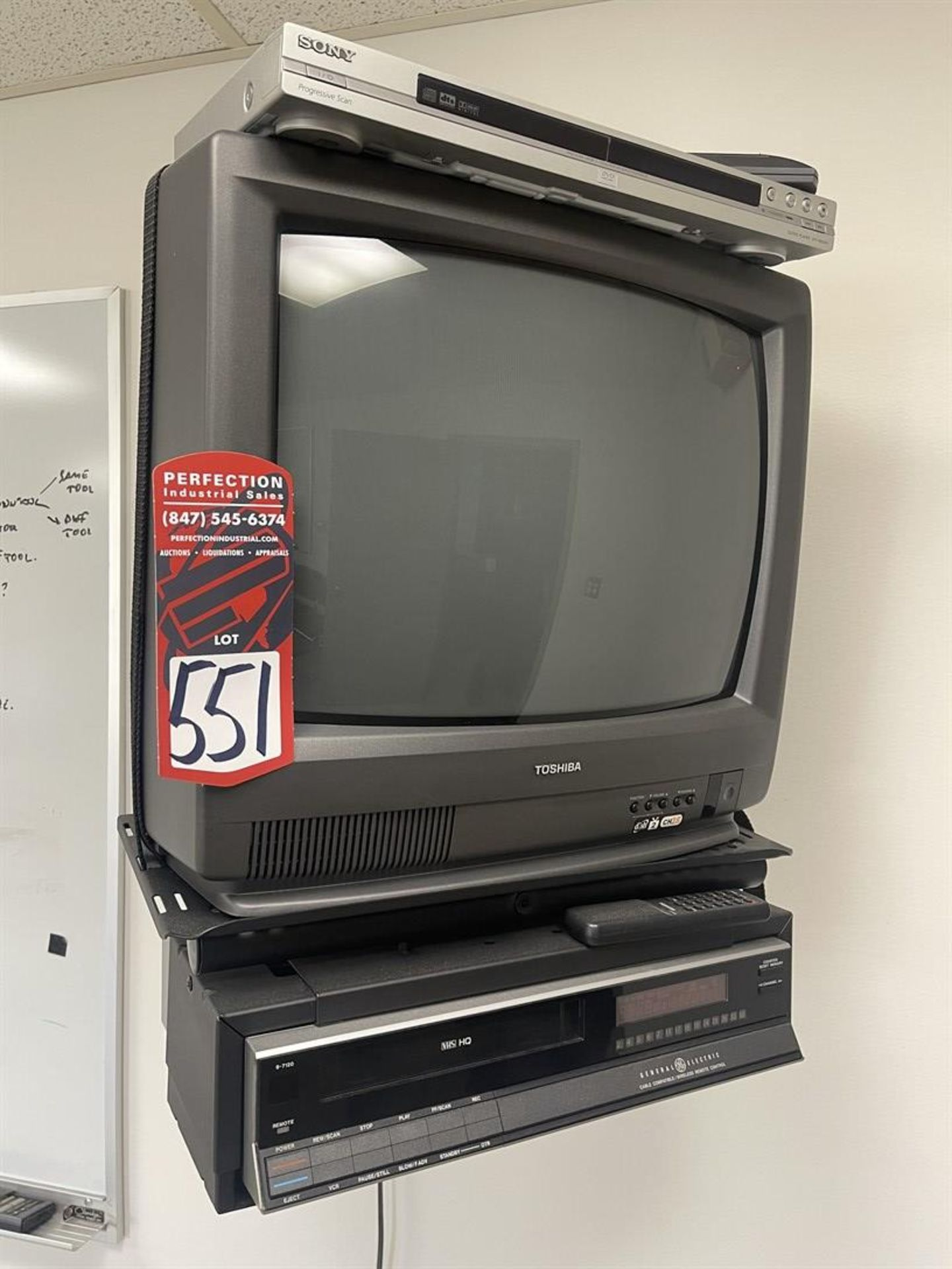 Wall Mount w/ Toshiba TC and GE VCR