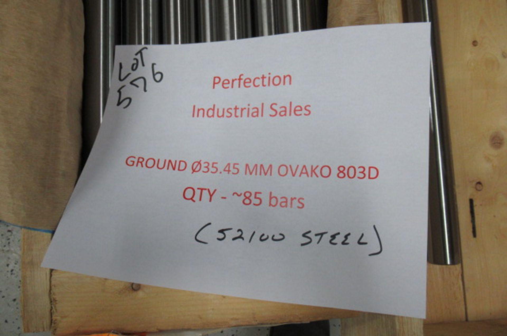 Lot steel round stock .35.45mm OVAKO 803D qty 85