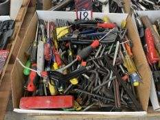 Lot of Assorted Allen Wrenches, Torx Wrenches and Screw Drivers
