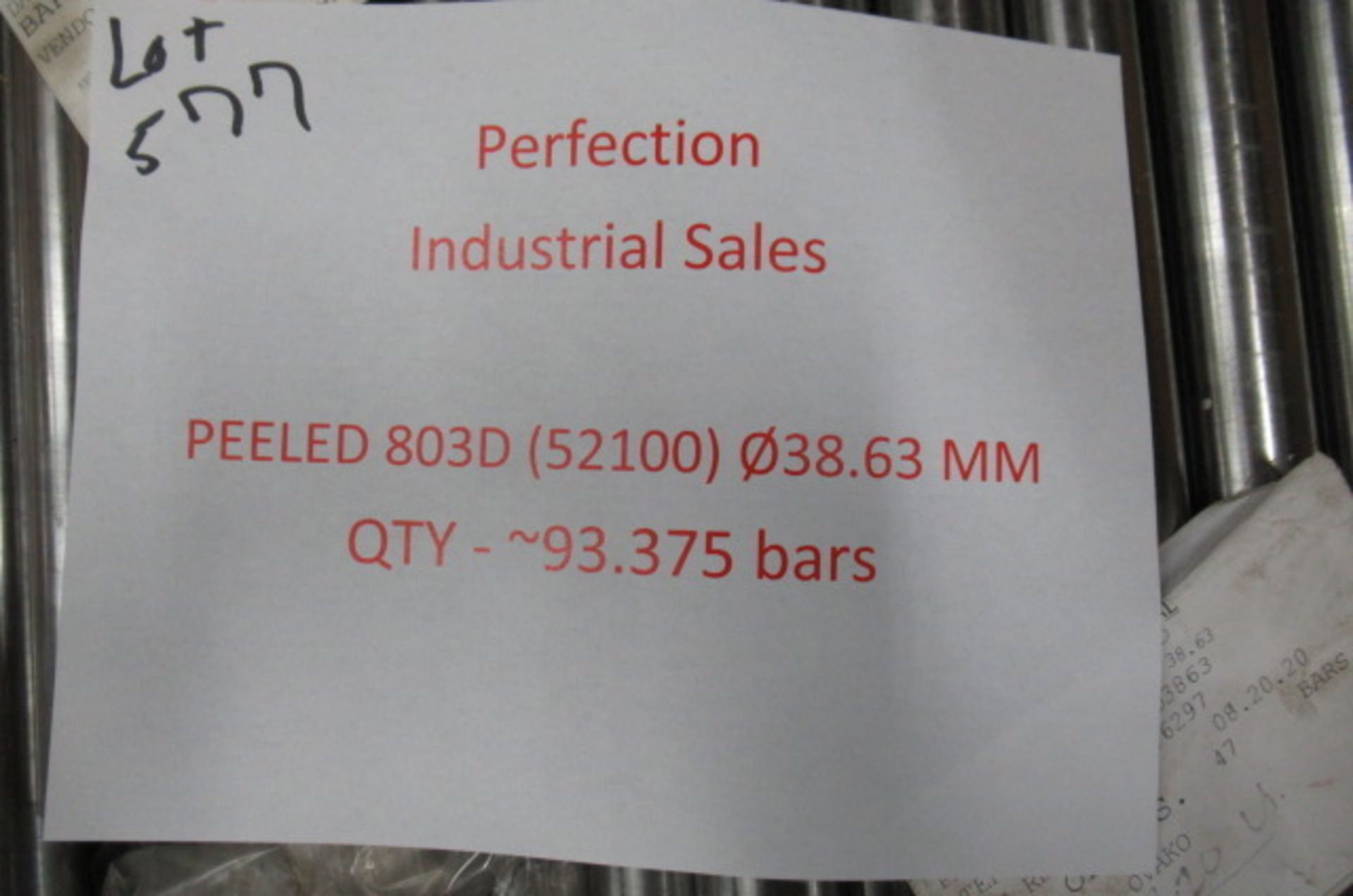 Lot steel round stock Peeled 803D (52100) 38.63mm qty 93