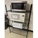 Rack w/ (3) Microwaves