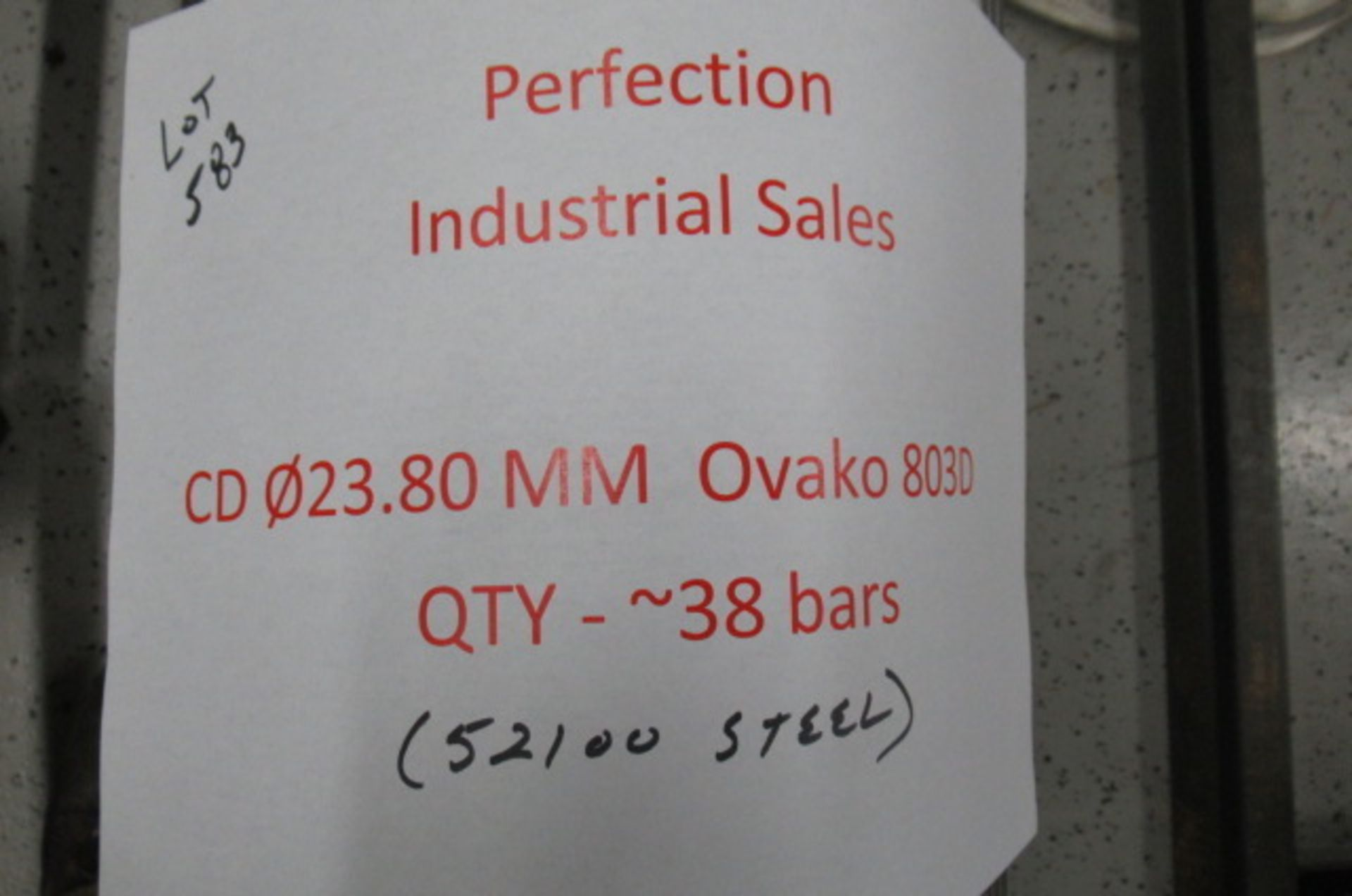 Lot steel round stock 52100 CD 023.80mm OVAKO 803D qty 38