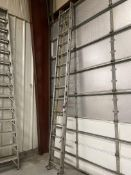 Unknown Make Approx. 28' Aluminum Extension Ladder