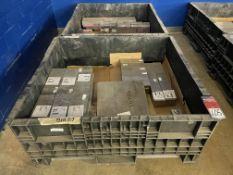 Lot Comprising (2) Collapsible Crates w/ Assorted 6AL-4V AMS4911 Titanium Block and 7075-T73 BMS7-