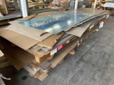 Lot Comprising Stack of Assorted Specialty Aluminum Sheet Stock, Including 2024-T81, 7475-T761,