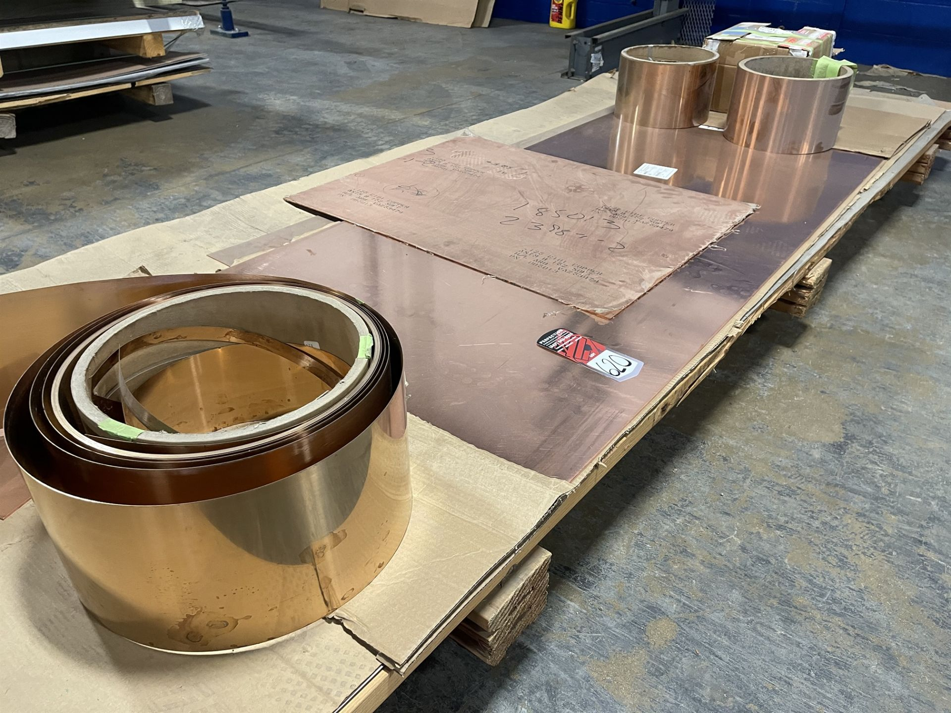 Lot Comprising Assorted Soft Copper Sheet and Copper-Beryllium Strip