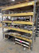 """8' x 8' x 42"""" Deep Pallet Rack w/ Assorted Pre-Cut Aluminum, Fiberglass and Bar Stock"""
