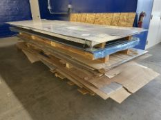 Lot Comprising Stack of Assorted 2024-0 Aluminum Bare and Clad Sheet Stock