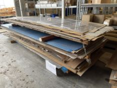 Lot Comprising Stack of Assorted 7075-T6 Aluminum Sheet Stock
